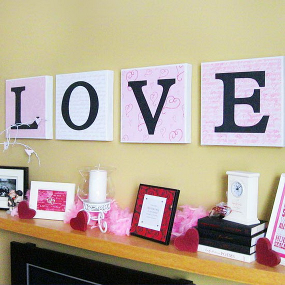 Cool Valentine's Day Mantel Décor Ideas_10