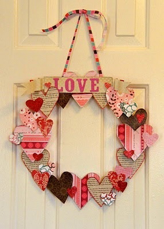 Cool Valentine's Day Wreath Ideas for 2014_19