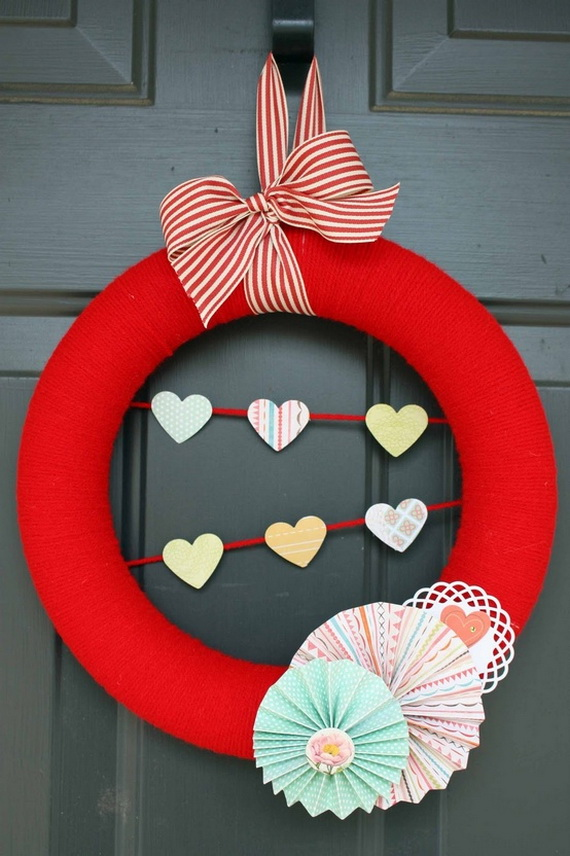 Cool Valentine's Day Wreath Ideas for 2014_34
