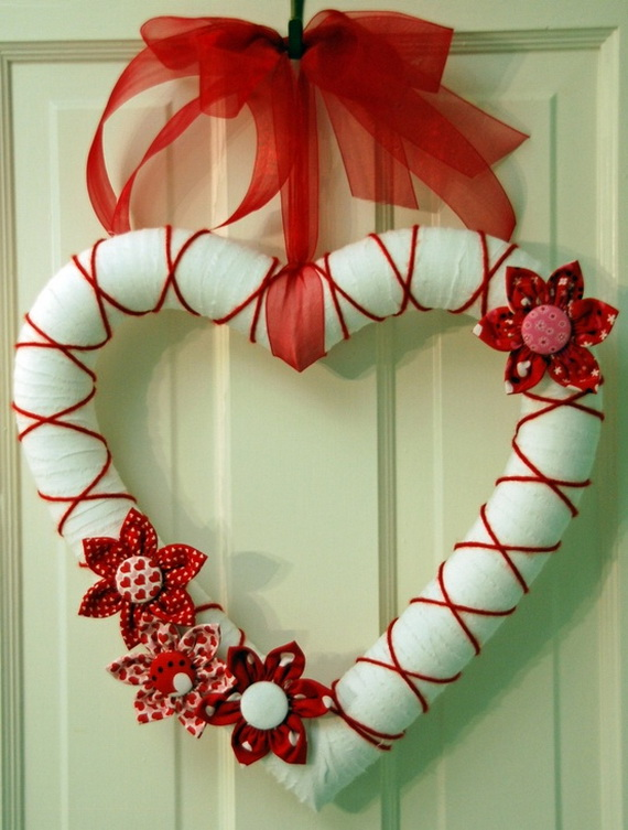 Cool Valentine's Day Wreath Ideas for 2014_35