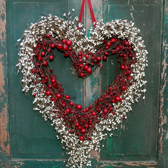 Cool Valentine's Day Wreath Ideas for 2014_36