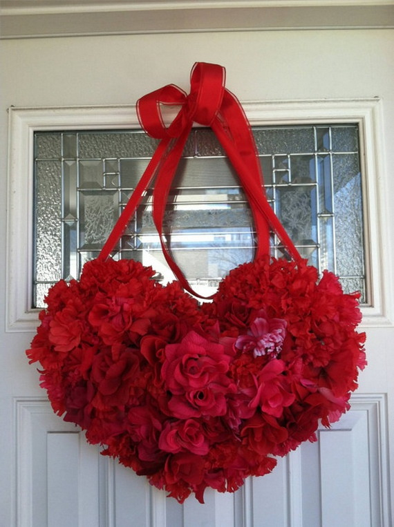 Cool Valentine's Day Wreath Ideas for 2014_40