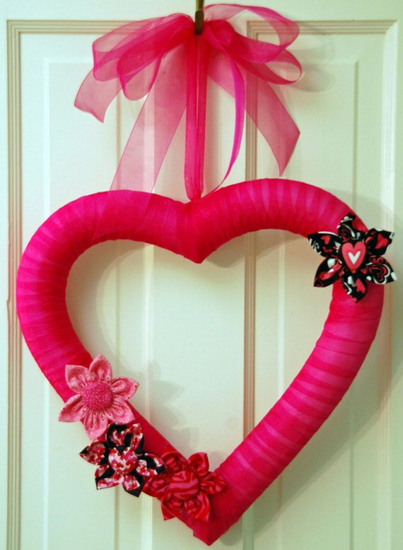 Cool Valentine's Day Wreath Ideas for 2014_42