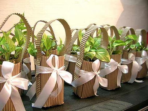 Green party favors and gifts