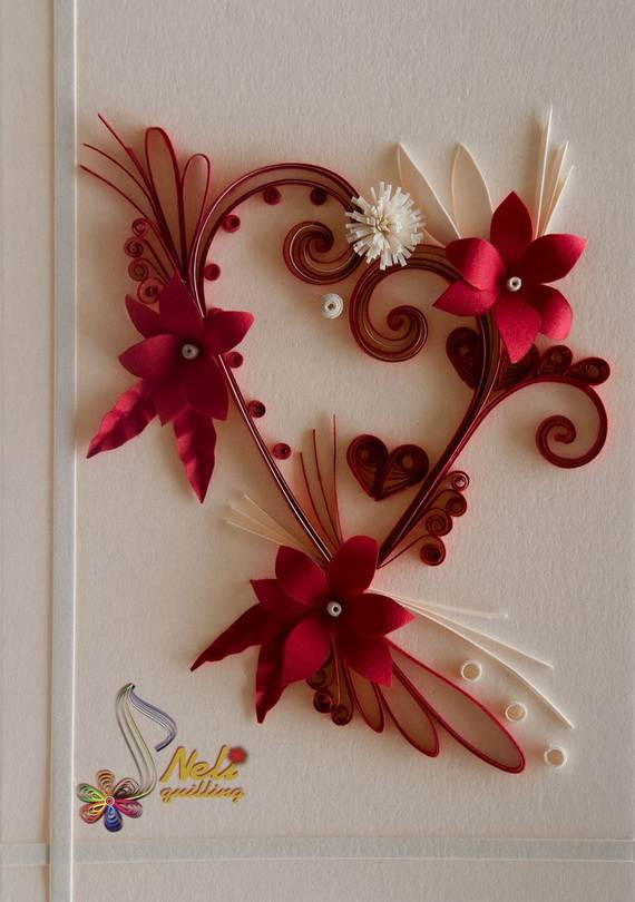 Quilled Valentine S Day Craft Projects And Ideas Family Holiday