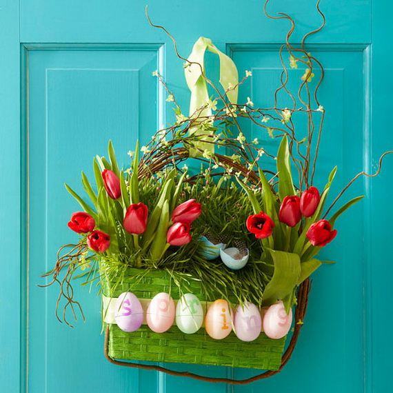 Easter and Spring Door Decoration Ideas_14