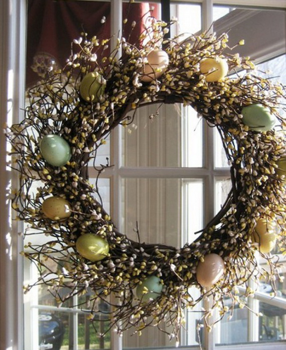 easter and spring door decoration ideas 55