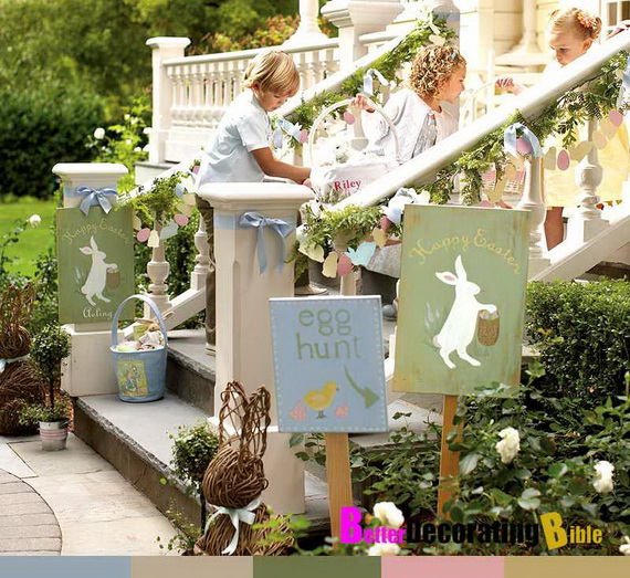 easter and spring door decoration ideas family holiday