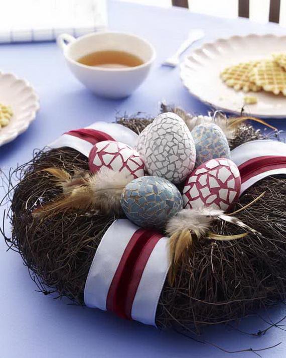 Ostereier: Eierschalenmosaik