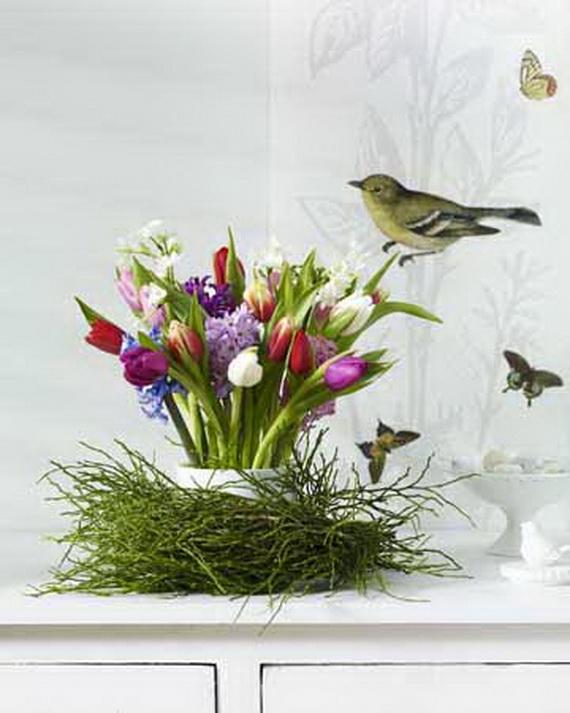 Tulpen: Tulpenstrau§ mit Kranz