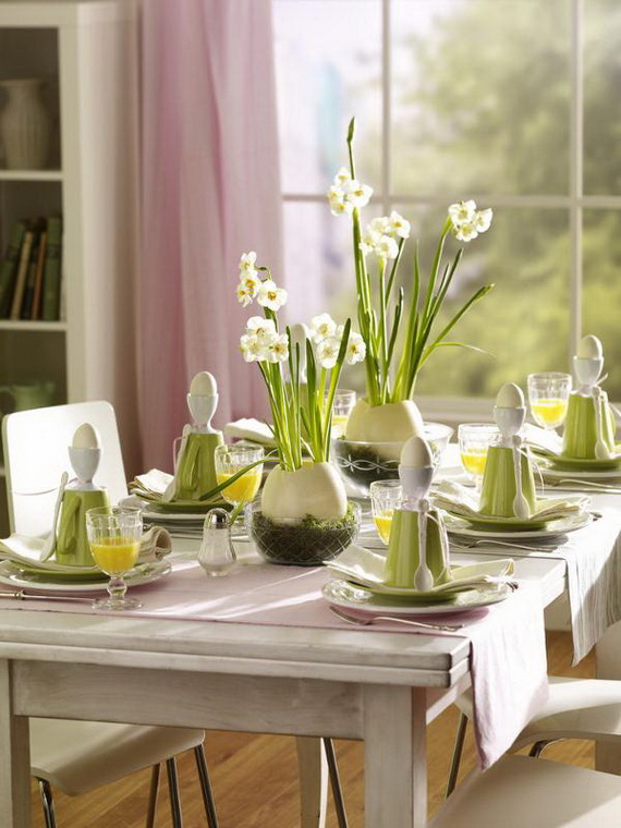 Spring lights on the Easter table _75