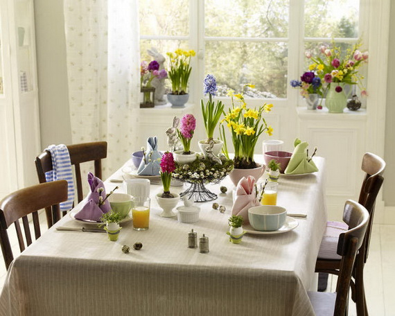 Spring lights on the Easter table _77