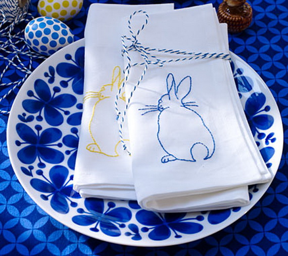 Creative Easter Ideas  In Blue And White_27