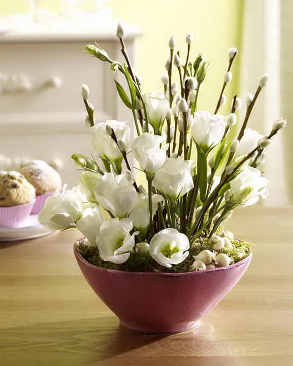 Blumen in Pastell: Eustoma und Weidenk?tzchen