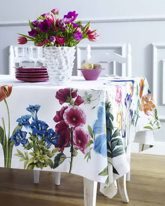 Blumenaccessoires: Tischdecke