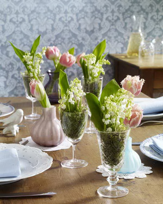 Easy easter centerpieces and table settings for spring