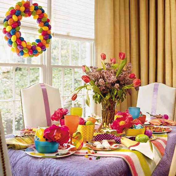 Easy Easter Centerpieces And Table Settings For Spring Holiday_31