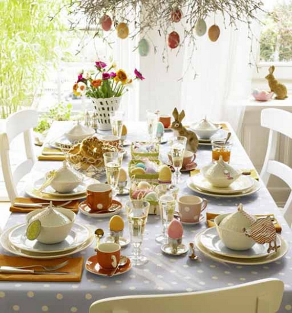 Easy Easter Centerpieces And Table Settings For Spring Holiday_37