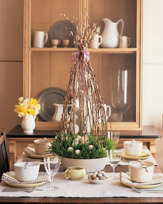 Easy Easter Centerpieces And Table Settings For Spring Holiday_41