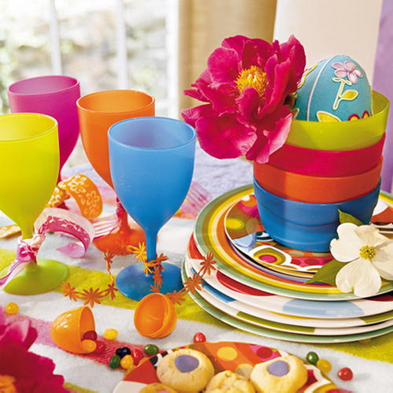 Easy Easter Centerpieces And Table Settings For Spring Holiday_42