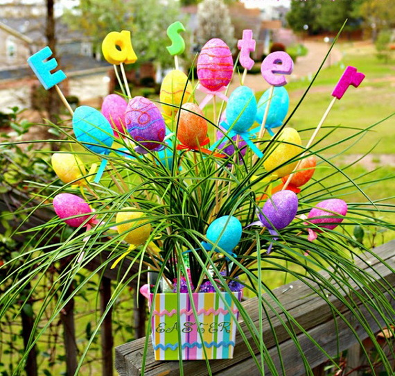 Outdoor easter decorations 60 ideas for a special Images for easter decorations