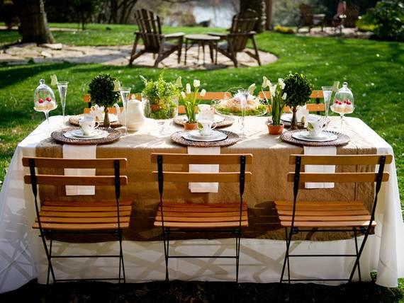 30 Cool Motheru0027s Day Tea Table Décor Ideas_24