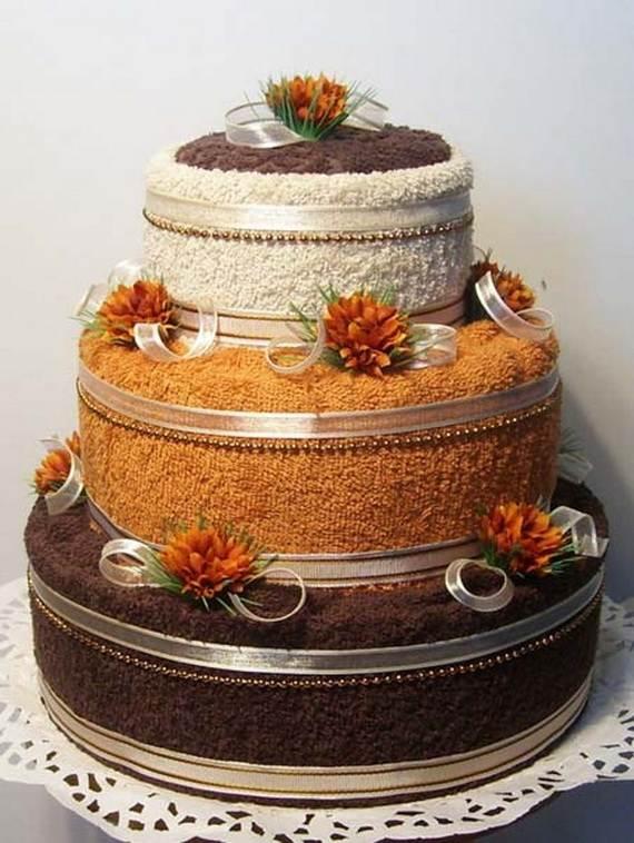 Полотенца в виде торта фото
