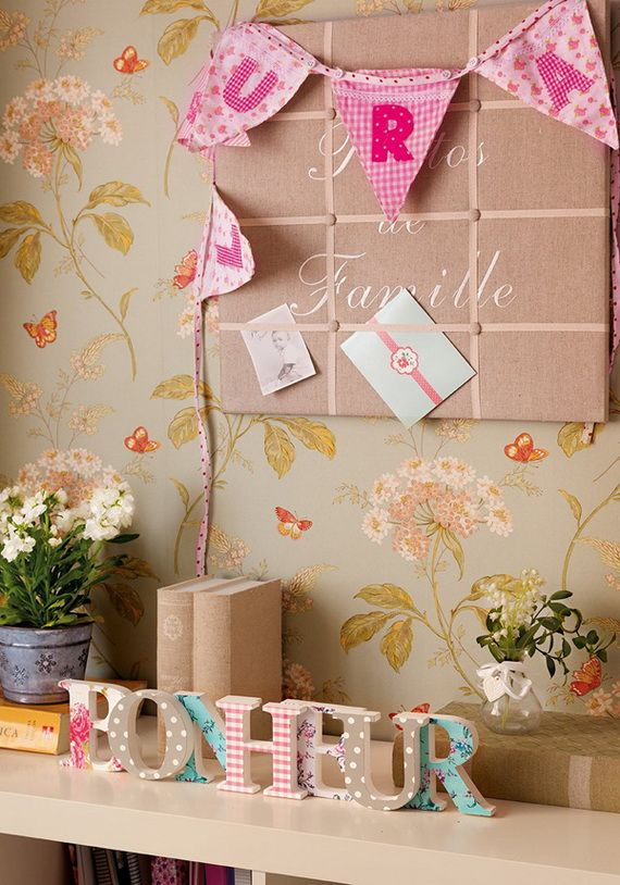 Decorating Interior Apartments With Fabric & Paper Projects_03