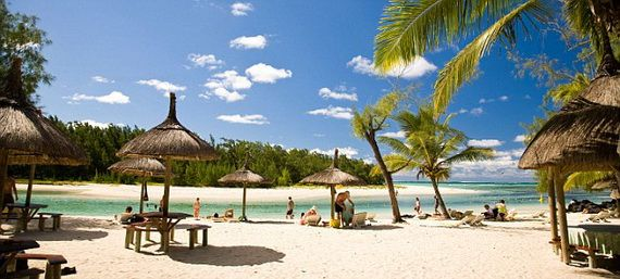 Ile Aux Cerf, most popular day trip for tourists & residents, East end of Mauritius, Africa