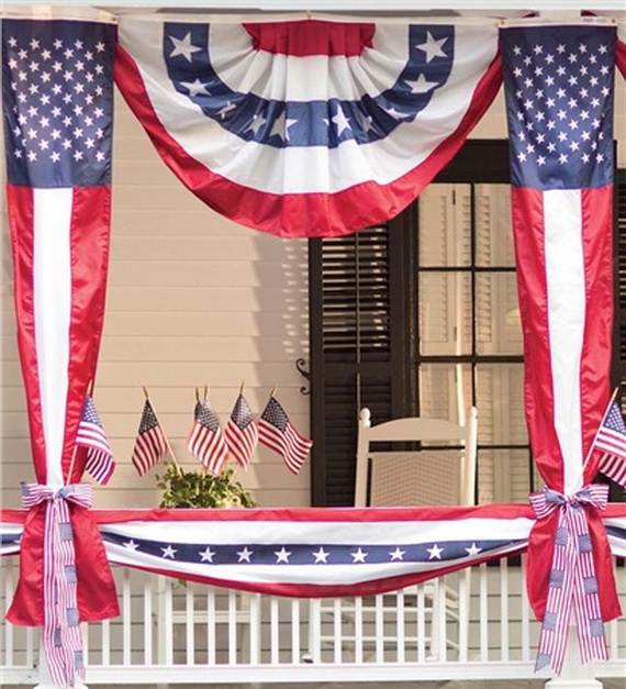 45 decorations ideas that celebrates the 4th of july for American flag decoration ideas