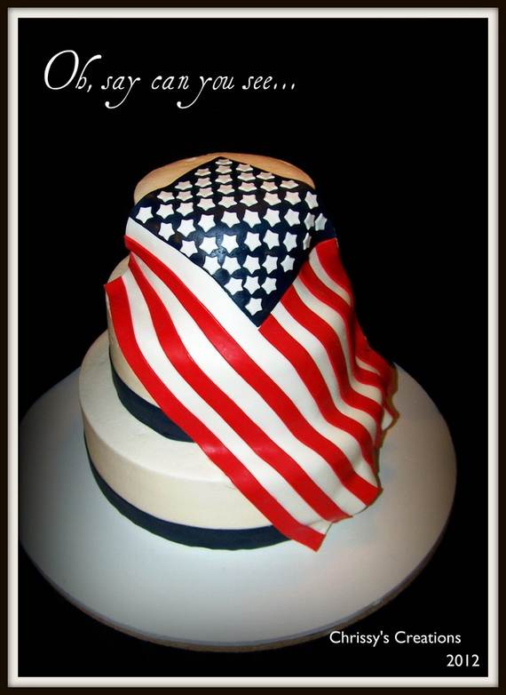 Adorable 4th of July Cake  Designs Ideas (55)