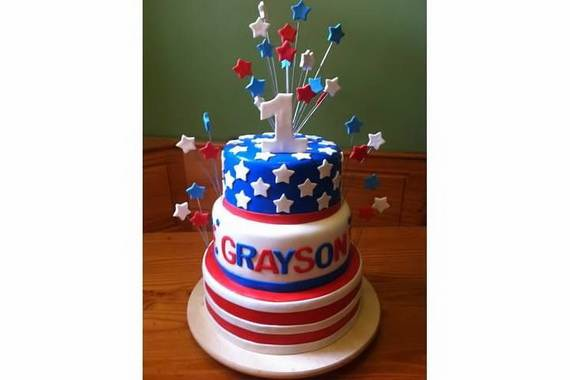 Adorable 4th of July Cake  Designs Ideas (60)