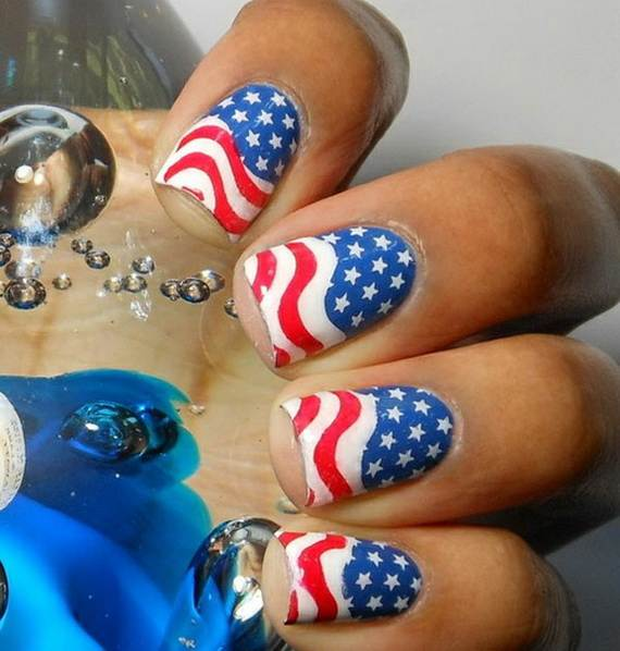 40 amazing patriotic nail art designs ideas for the 4th of july amazing patriotic nail art designs ideas10 prinsesfo Choice Image