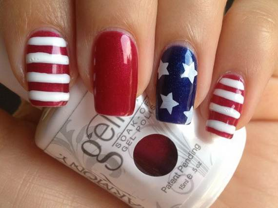 Amazing-Patriotic-Nail-Art-Designs-Ideas_20 - 40 Amazing Patriotic Nail Art Designs & Ideas For The 4th Of July On