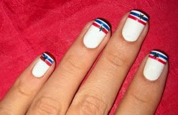 Amazing-Patriotic-Nail-Art-Designs-Ideas_26 - 40 Amazing Patriotic Nail Art Designs & Ideas For The 4th Of July On