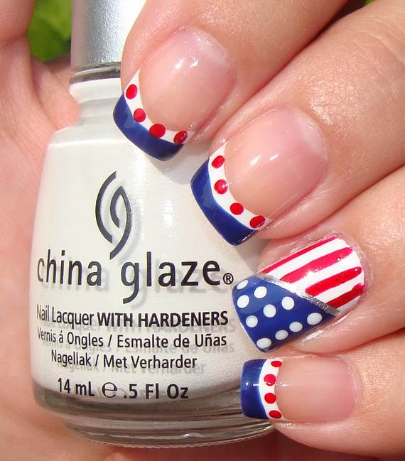 40 Amazing Patriotic Nail Art Designs & Ideas For The 4th Of July on ...