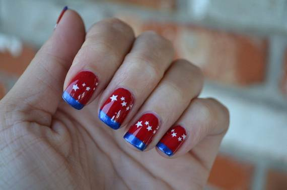 Amazing-Patriotic-Nail-Art-Designs-Ideas_31 - 40 Amazing Patriotic Nail Art Designs & Ideas For The 4th Of July On