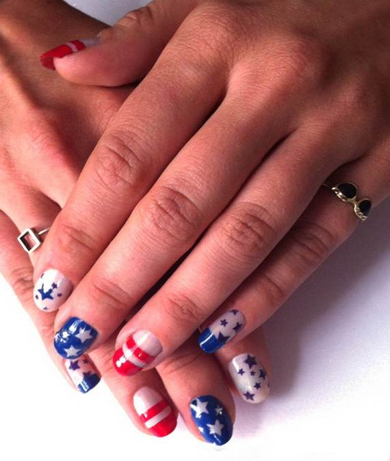 amazing patriotic nail art designs ideas_38