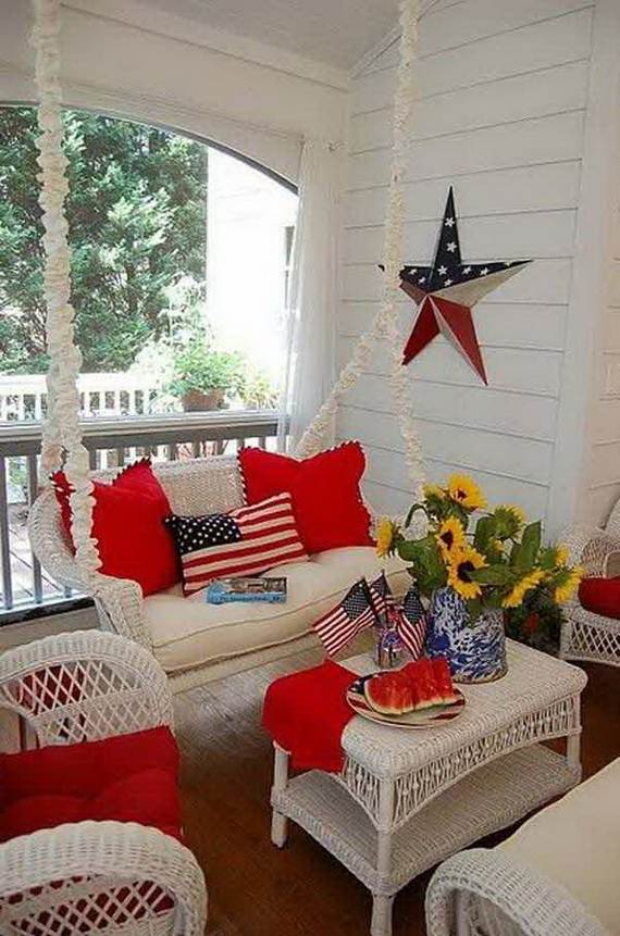 4th Of July Front Porch Decor