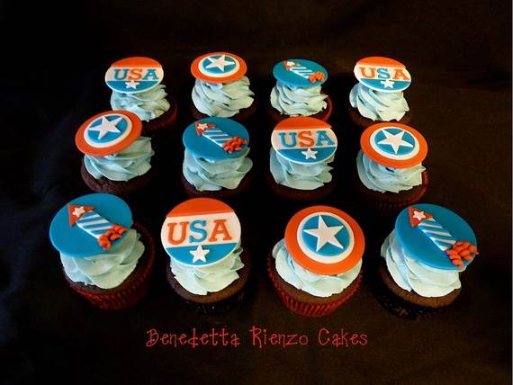 Spectacular Red, Blue, and White Cupcake Decorating Ideas (11)