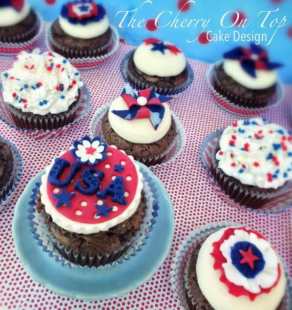 Spectacular Red, Blue, and White Cupcake Decorating Ideas (12)