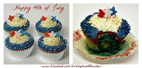 Spectacular Red, Blue, and White Cupcake Decorating Ideas (29)