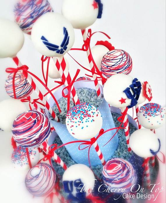 30 spectacular red blue and white cupcake decorating for Air force decoration guide