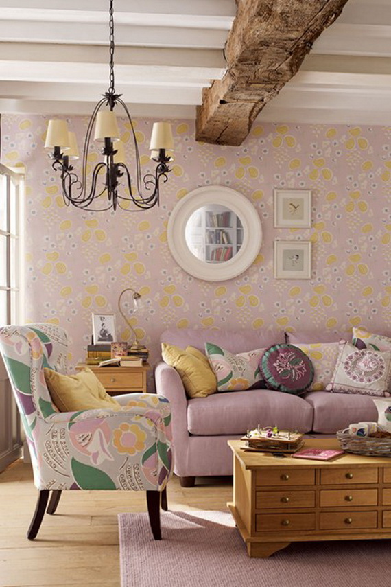 Beautiful cushions by laura ashley for a warm and personal for Quirky living room ideas