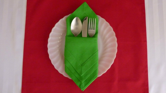 Creative napkin folds for your holiday table family - Unique ways to fold napkins ...
