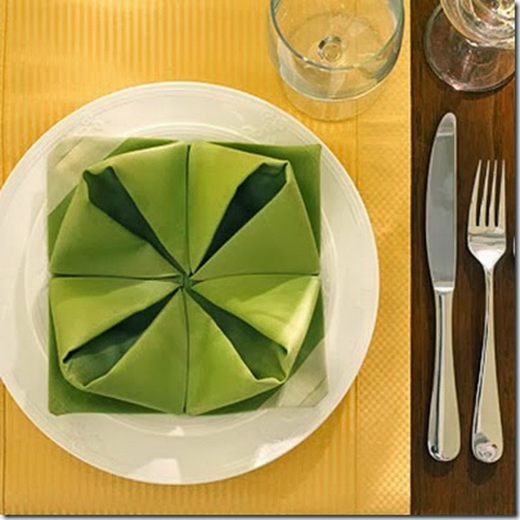 Creative Napkin Folds for Your Holiday Table (4)