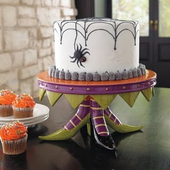 45 edible decoration ideas for halloween cakes and cupcake 7 - Halloween Cakes Decorations