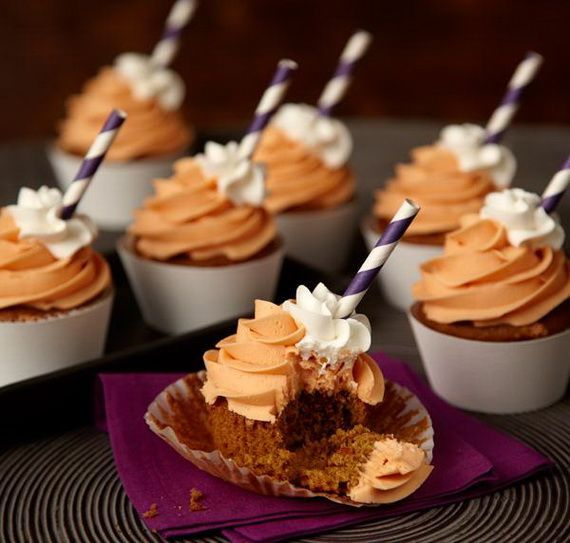 fabulous fall cakes and cupcakes decorating ideas 21 - Halloween Inspired Cupcakes