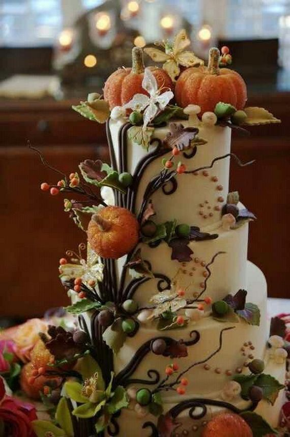 45 fabulous fall cakes and cupcakes decorating ideas for for Autumn cake decoration