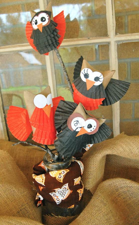 Fall Crafts With Children – Owl Handicraft For Cozy Hours (2)